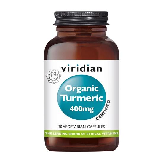 Viridian Organic Turmeric 400mg 30 Capsules