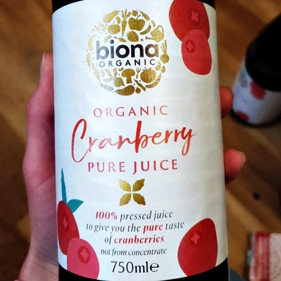 Biona Organic Cranberry Pure Juice 750ml