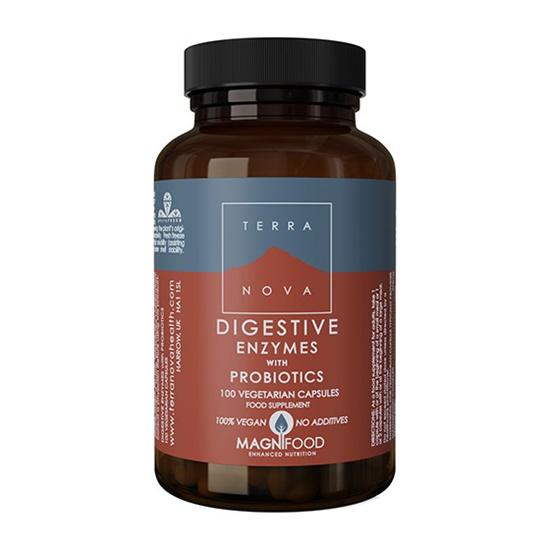 Terra Nova Digestive Enzymes With Probiotics 50 Capsules